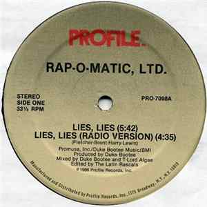Rap-O-Matic, Ltd. - Lies, Lies Album